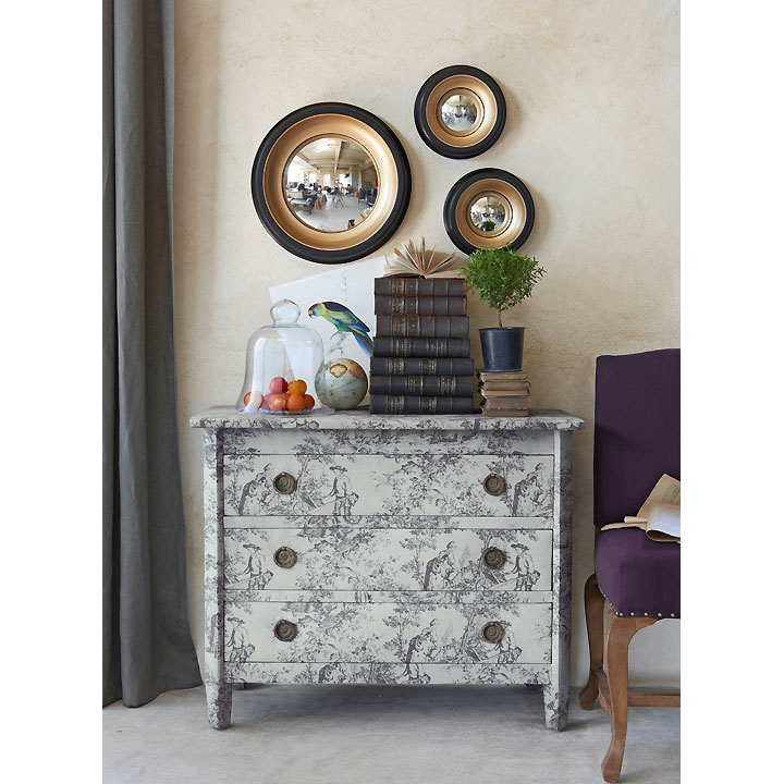 am pm les nouveaut s d co automne hiver de la redoute commode pivoine et miroir samantha. Black Bedroom Furniture Sets. Home Design Ideas