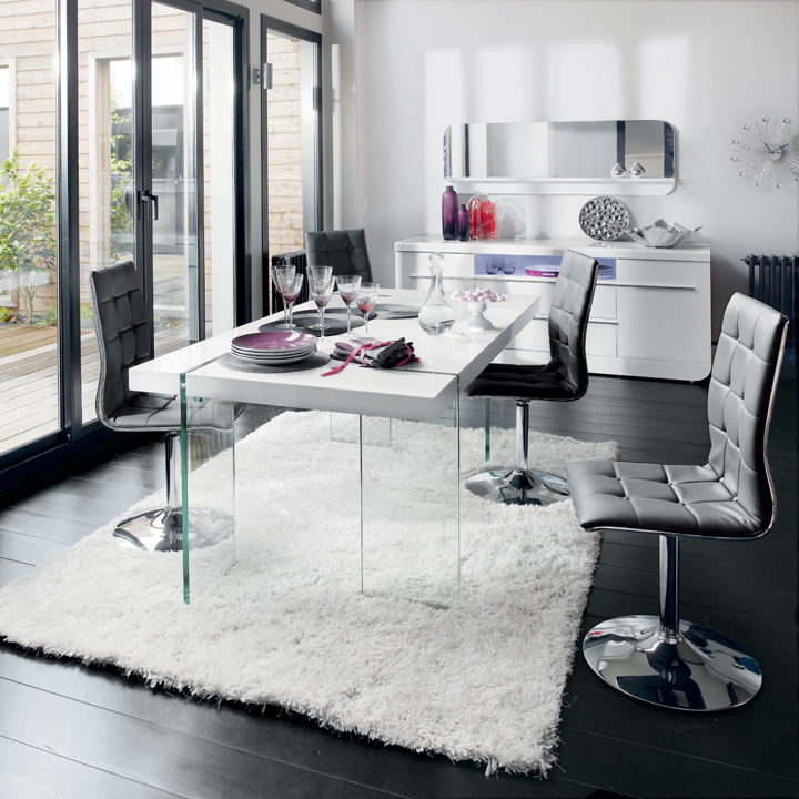 Tous table s lection de tables manger et de chaises for Table blanche conforama
