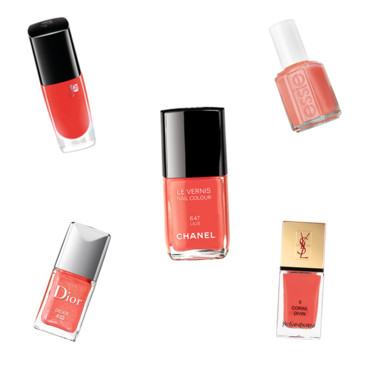 Montage vernis corail
