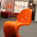 Chaise orange pop Seconde Chance
