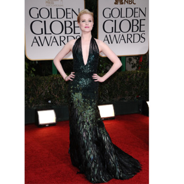 Golden Globes Evan Rachel Wood en Gucci