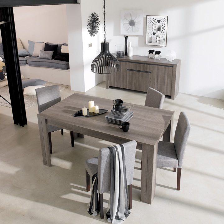d co salle a manger taupe. Black Bedroom Furniture Sets. Home Design Ideas