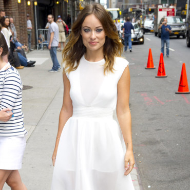 Olivia Wilde arrive chez David Letterman le 19 août 2013 à NYC