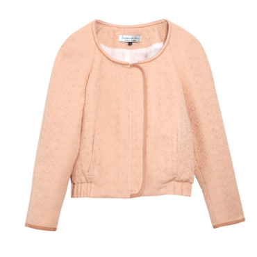 Blouson girly rose dragé Mademoiselle Tara