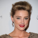 Amber Heard Heaven Gala janvier 2011 chignon coque chatain doré