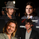 Les beaux gosses sont chevelus Johnny Depp/Ashton Kutcher/Chace Crawford/Brad Pitt