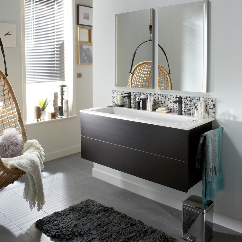 meuble salle de bain le roy merlin. Black Bedroom Furniture Sets. Home Design Ideas