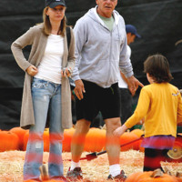 Photo : Calista Flockhart, Harrison Ford prparent Halloween