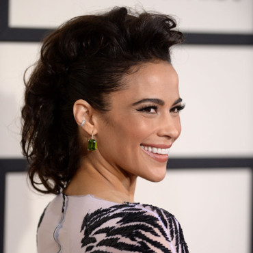 Paula Patton à la 56e cérémonie des Grammy Awards le 27 janvier au Staples Center, à Los Angeles.