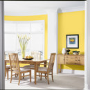 Peinture dco jaune salle  manger Dulux Valentine