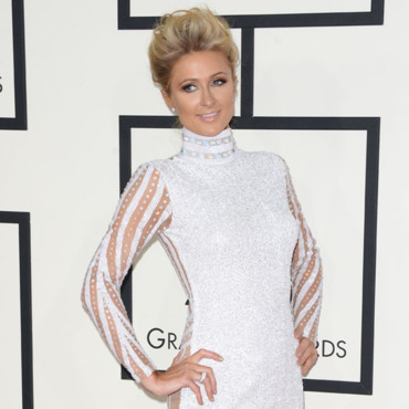 Paris Hilton à la 56e cérémonie des Grammy Awards le 27 janvier au Staples Center, à Los Angeles.