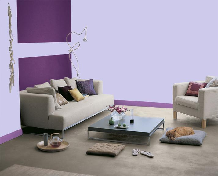 peinture d co violet dulux valentine objet d co d co. Black Bedroom Furniture Sets. Home Design Ideas