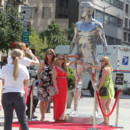 Des statues gantes de David Beckham dans les rues des Etats-Unis