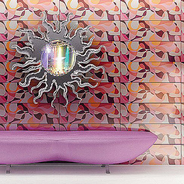 La salle de bains psychdlique - Dco :  mirror bathroom bath psychadelic