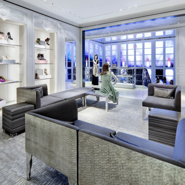 Boutique Dior à New York - un lieu cosy