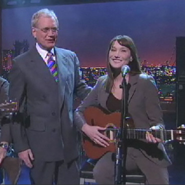 Carla Bruni et David Letterman