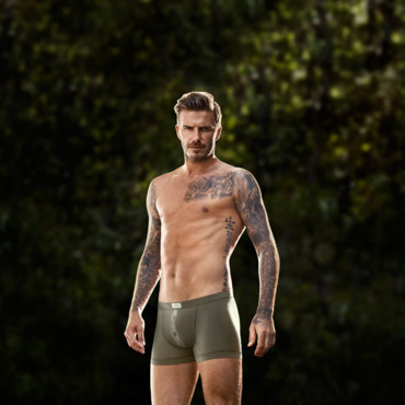 David Beckham, égérie de la nouvelle collection de sous-vêtements H&M.