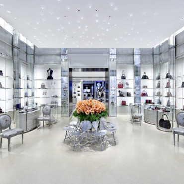 Boutique Dior à New York - vue centrale sur la boutique