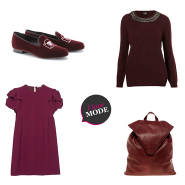 Shopping aubergine