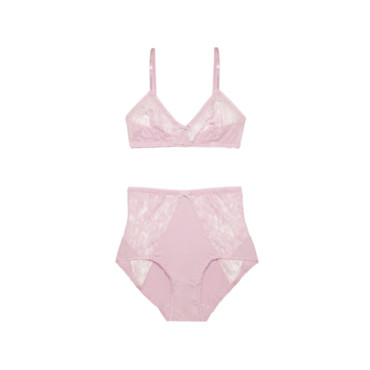 Ensemble girly rose dragé Etam 40 euros environ