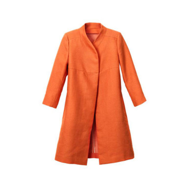 La veste longue orange H&M 80 euros