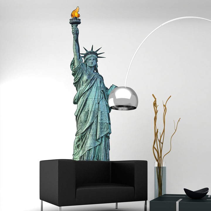 Chambre d 39 ado stickers coussins lampes direction new york pour ma - Lampe de bureau new york ...