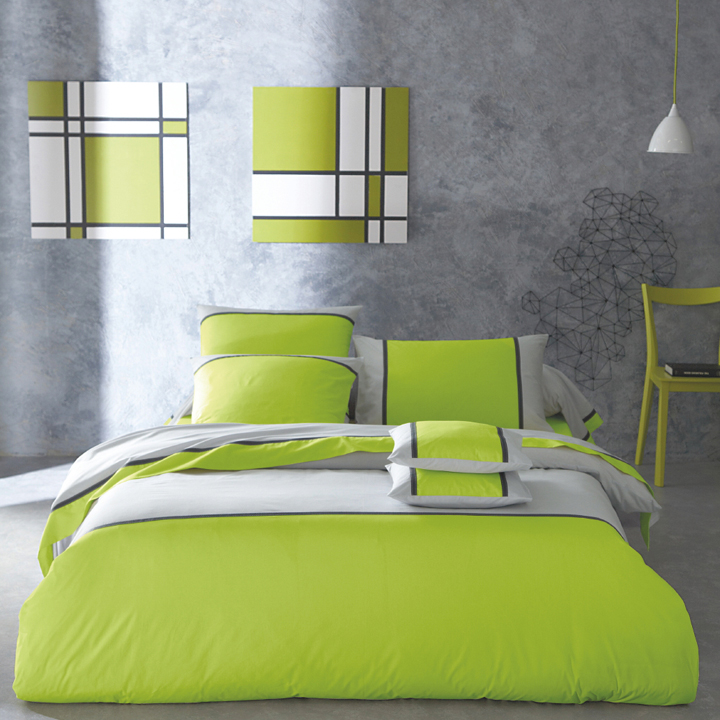 d co chambre vert et beige. Black Bedroom Furniture Sets. Home Design Ideas