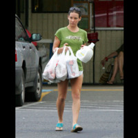 Photo : Evangeline Lilly au supermarché
