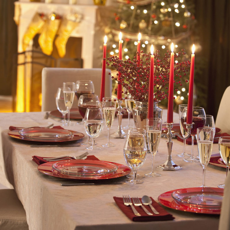 D co de table de no l je veux une d co traditionnelle tendances d co d co Une deco de table de noel