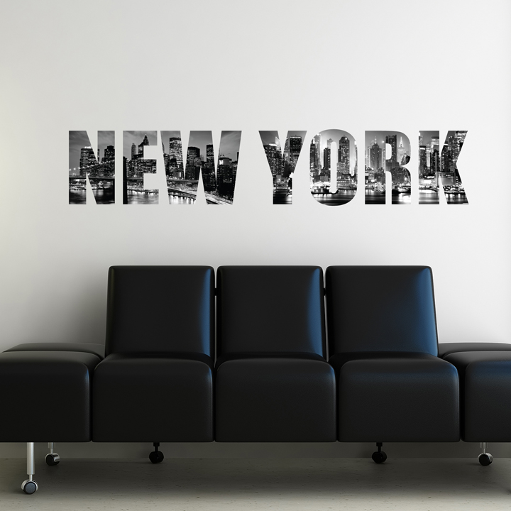 Chambre d 39 ado stickers coussins lampes direction - Decoration chambre new york ...