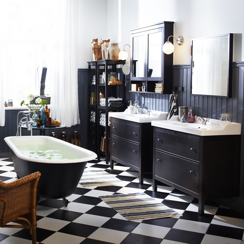 amenagement salle de bain ikea avec des. Black Bedroom Furniture Sets. Home Design Ideas