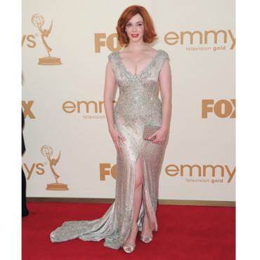 Christina Hendricks en Johanna Johnson pour les Emmy Awards
