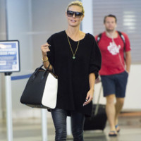 Heidi Klum à l'aéroport JFK à New York le 15 Septembre 2014