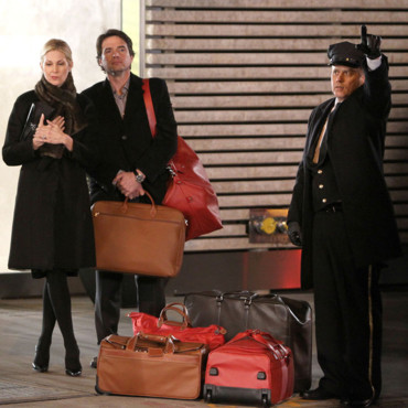 Tournage Gossip Girl 2012 Rufus Humphrey et Lily van der Woodsen Matthew Settle Kelly Rutherford