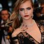 Cara Delevingne en robe Burberry au Festival de Cannes 2013 
