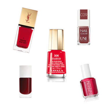 Montage vernis rouge