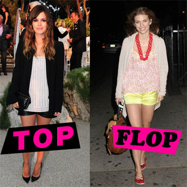 Top Flop short Rachel Bilson vs Annalynne McCord