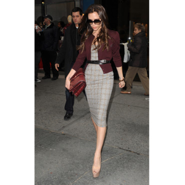 Victoria Beckham et ses peep toes nude