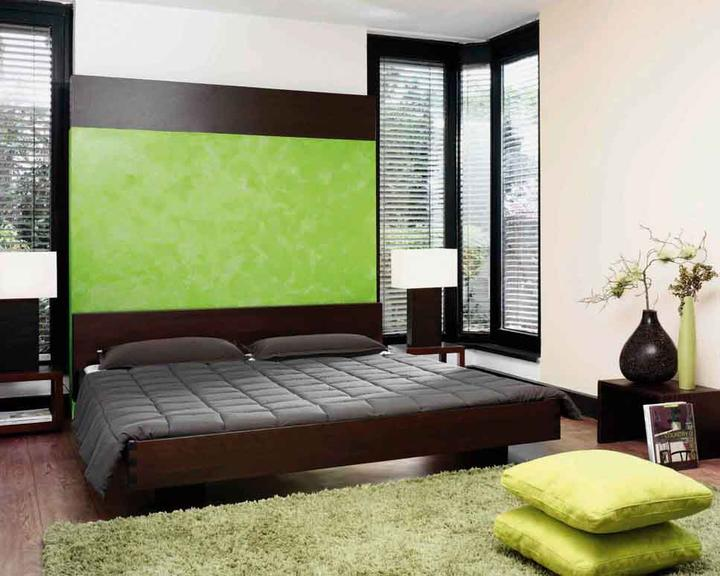 d co chambre vert et noir. Black Bedroom Furniture Sets. Home Design Ideas