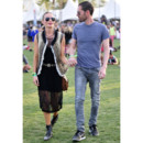 Kate Bosworth et son petit ami au festival de Coachella (Californie) en avril 2013