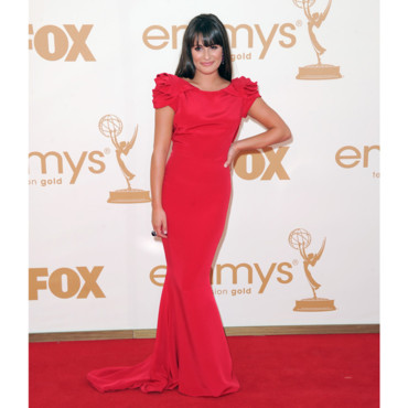 Lea Michele en Marchesa aux Emmy Awards