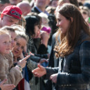Kate Middleton, le 4 avril 2013 en visite à Glasgow en Ecosse.