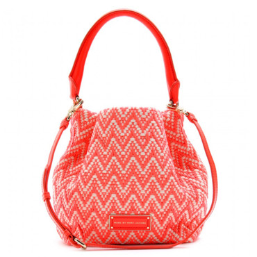 Sac à main corail et tressé Marc by Marc Jacobs 395 euros sur My Theresa