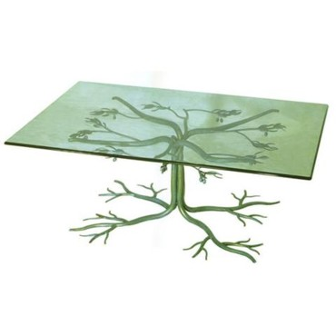 table en verre rectangle
