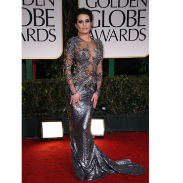 Golden Globes Lea Michele en Marchesa