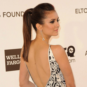 Nina Dobrev à la soirée caritative d'Elton John à West Hollywood