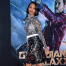 "Zoe Saldana pour la promotion du film ""Guardians Of The Galaxy"" le 21 juillet 2014 à Los Angeles"