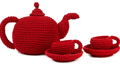 Big Tea Set red Anne-Claire PETIT
