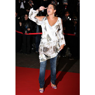 Diam's sur le red carpet de la soirée NRJ Music Awards en 2007