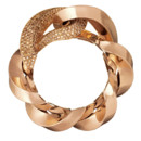 Bracelet Spirale Hermès - or rose et diamants bruns -